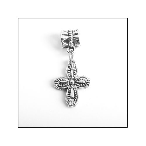 Cross 4 (19x13mm) Silver Charm
