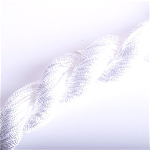 #0 Bugtail, 1mm Nylon cord, 29 yards (27m), White