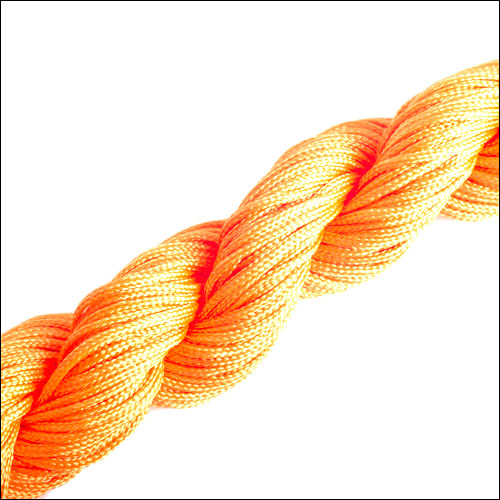 #0 Bugtail, 1mm Nylon cord, 29 yards (27m), Yellow-Orange