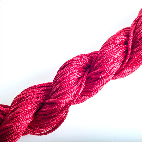 #0 Bugtail, 1mm Nylon cord, 29 yards (27m), Dark Red