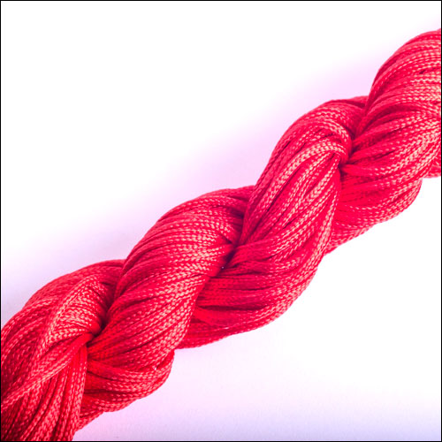 #0 Bugtail, 1mm Nylon cord, 29 yards (27m), Red