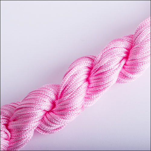#0 Bugtail, 1mm Nylon cord, 29 yards (27m), Pink