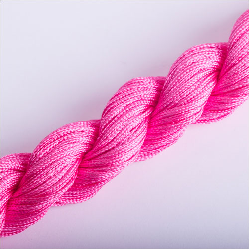 #0 Bugtail, 1mm Nylon cord, 29 yards (27m), Dark Pink