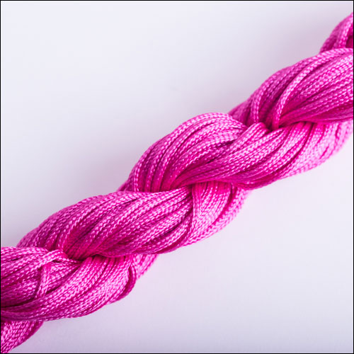 #0 Bugtail, 1mm Nylon cord, 29 yards (27m), Fuchsia