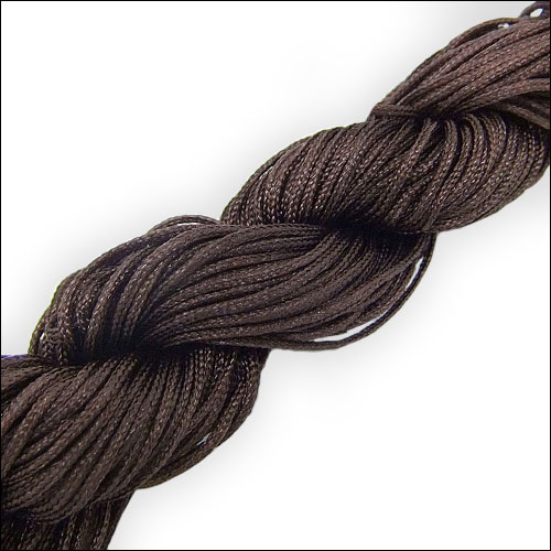 #0 Bugtail, 1mm Nylon cord, 29 yards (27m), Dark Brown