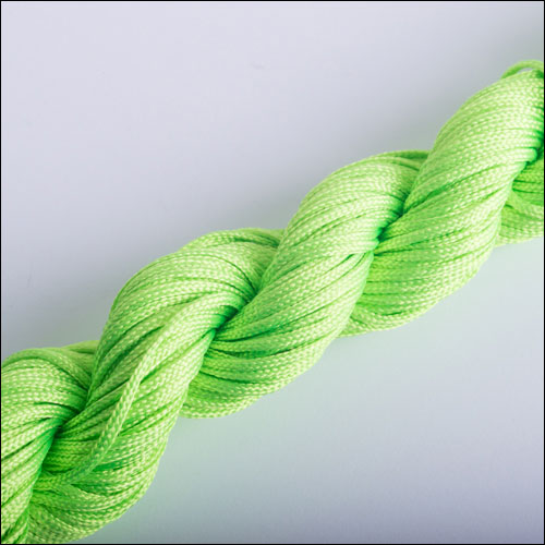 #0 Bugtail, 1mm Nylon cord, 29 yards (27m), Lime Green
