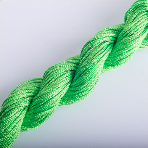 #0 Bugtail, 1mm Nylon cord, 29 yards (27m), Green-Yellow