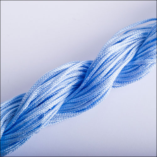 #0 Bugtail, 1mm Nylon cord, 29 yards (27m), Baby Blue