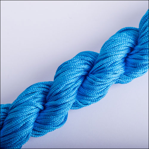 #0 Bugtail, 1mm Nylon cord, 29 yards (27m), Capri Blue