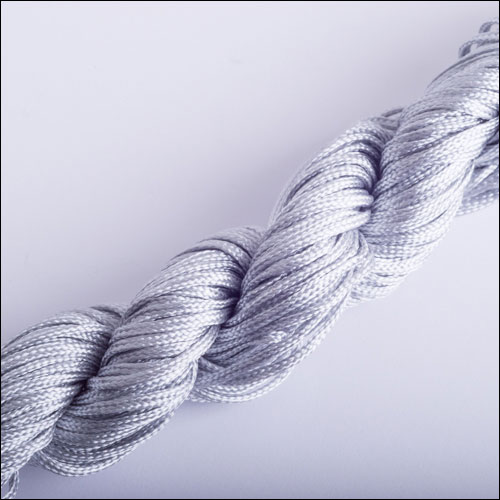 #0 Bugtail, 1mm Nylon cord, 29 yards (27m), Grey-Silver