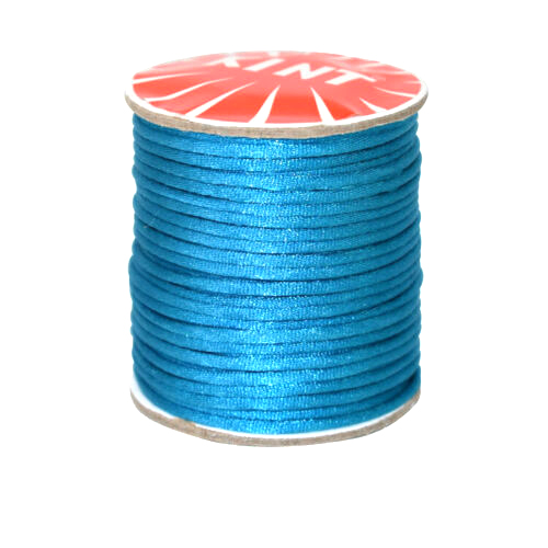 #1 Mousetail, 1.5mm Nylon cord, 76 yards (70m), Turquoise Blue