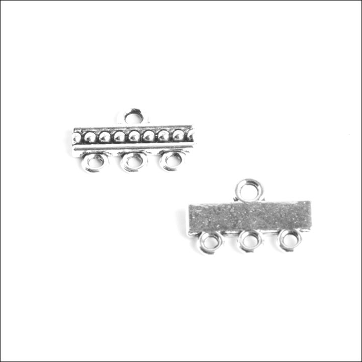 1/3 hole Dots Bar (4 each), Antique Silver
