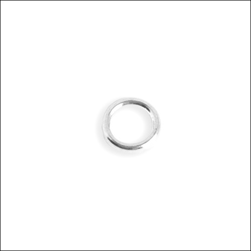 Jump Ring, Closed, Silver, 6mm (100)