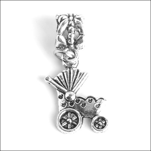 Baby Buggy (19x14mm) Silver Charm