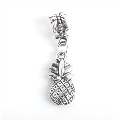 Pineapple Silver Charm