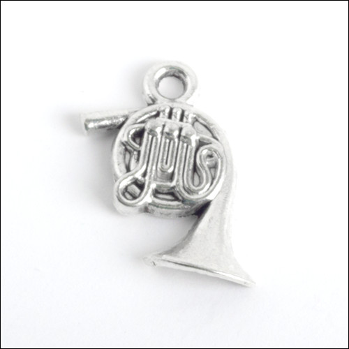 French Horn Silver Charm (no bail)