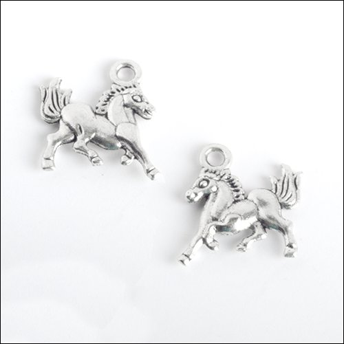 High Stepping Horse Silver Charm (no bail)