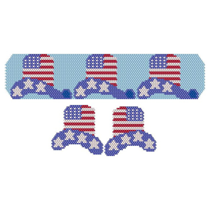 Hats Off Happy 4th Bracelet & Earrings