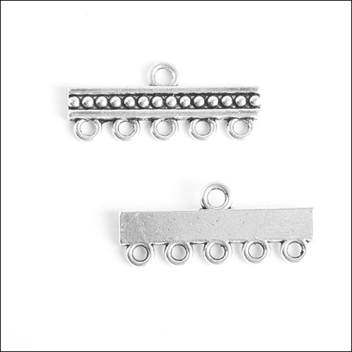 1/5 hole Dots Bar (4 each), Antique Silver