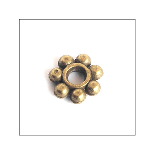 Daisy Spacer,  6mm, Antique Bronze (25)