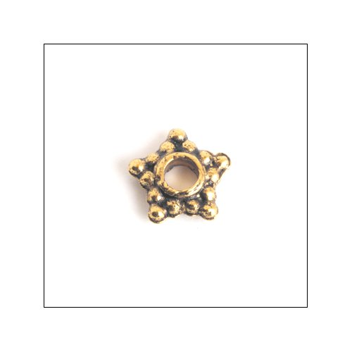 Daisy Spacer,  6mm Star, Antique Gold (50)