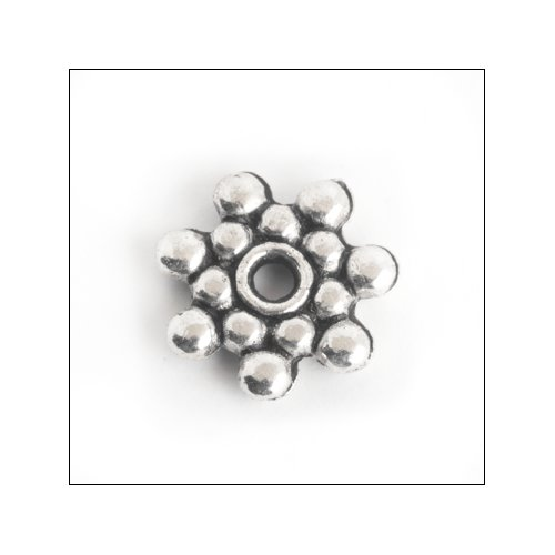 Daisy Spacer,  9mm, Antique Silver (25)