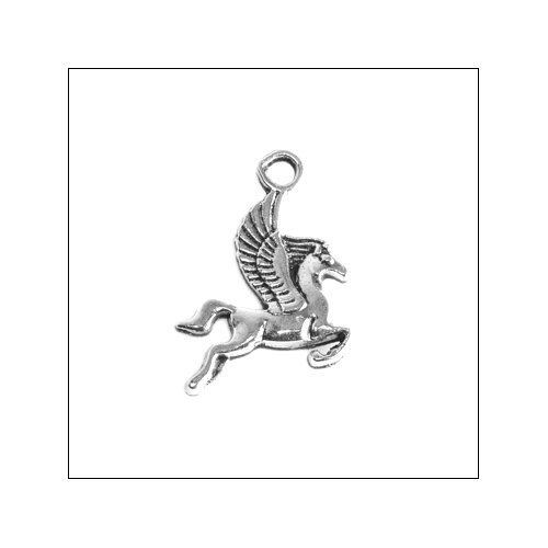Pegasus Winged Horse Silver Charm (no bail)