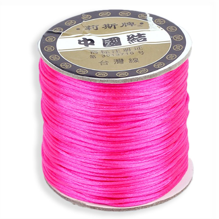 #1 Mousetail, 1.5mm Nylon cord, 76 yards (70m), Hot Pink