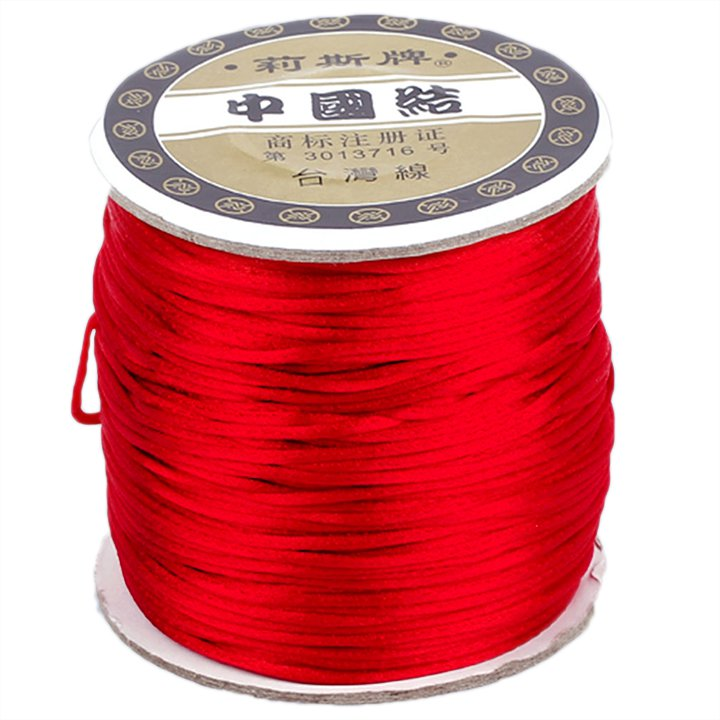 #1 Mousetail, 1.5mm Nylon cord, 76 yards (70m), Dark Red