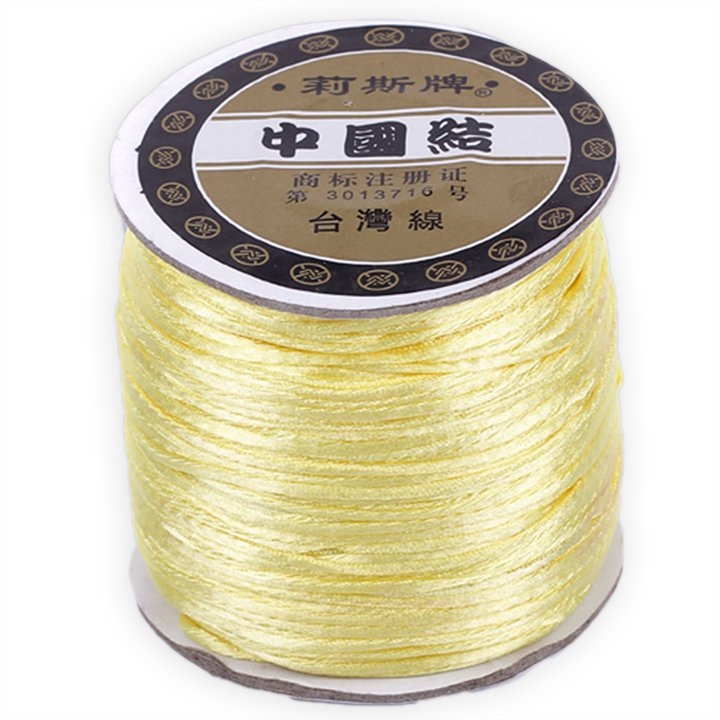 #1 Mousetail, 1.5mm Nylon cord, 76 yards (70m), Pale Yellow