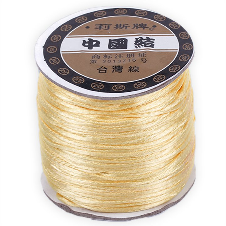 #1 Mousetail, 1.5mm Nylon cord, 76 yards (70m), Yellow Ivory