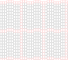 Delica bead Graph Paper, 3-Drop Peyote/Brick (Enlarged 200% of A