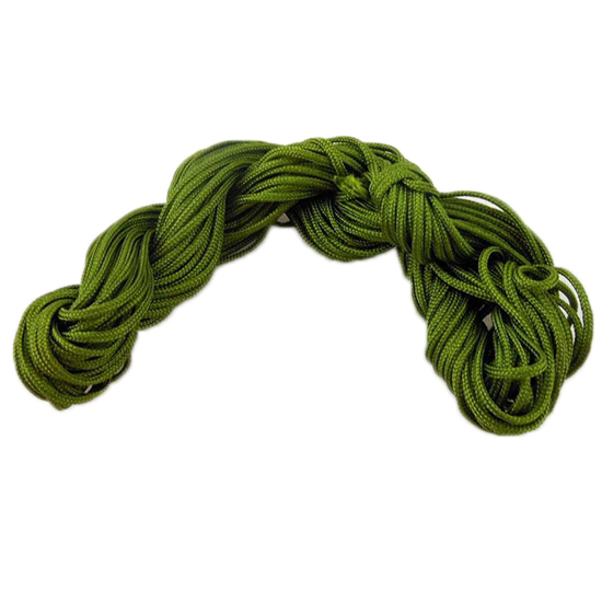 #1 Mousetail, 1.5mm Nylon cord, 16 yards (15m), Moss Green