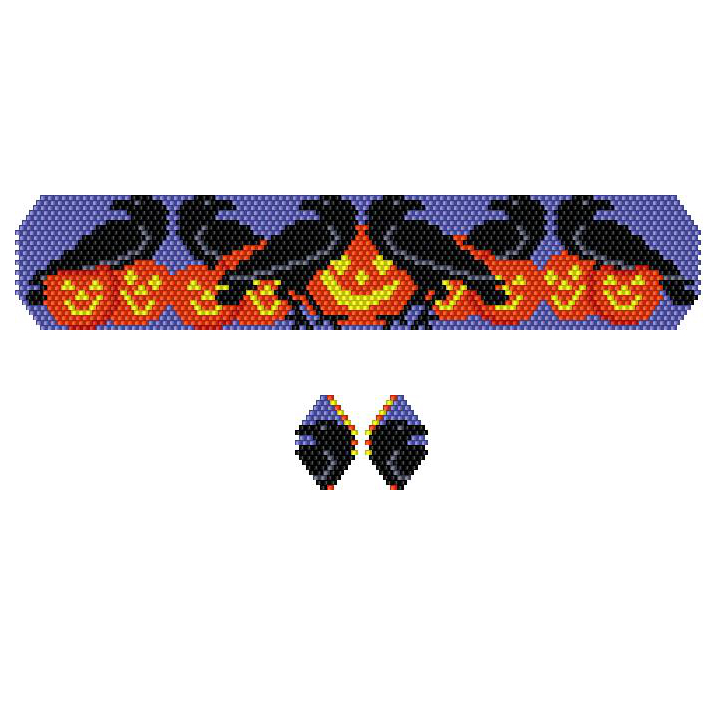 Halloween Murder of Crows Bracelet & Earrings