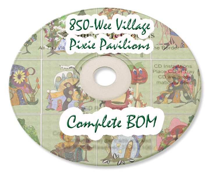850-Wee Village Pixie Pavilions BOM (CD)