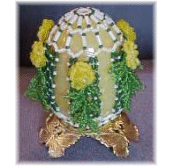 Diamond Trellis Beaded Egg
