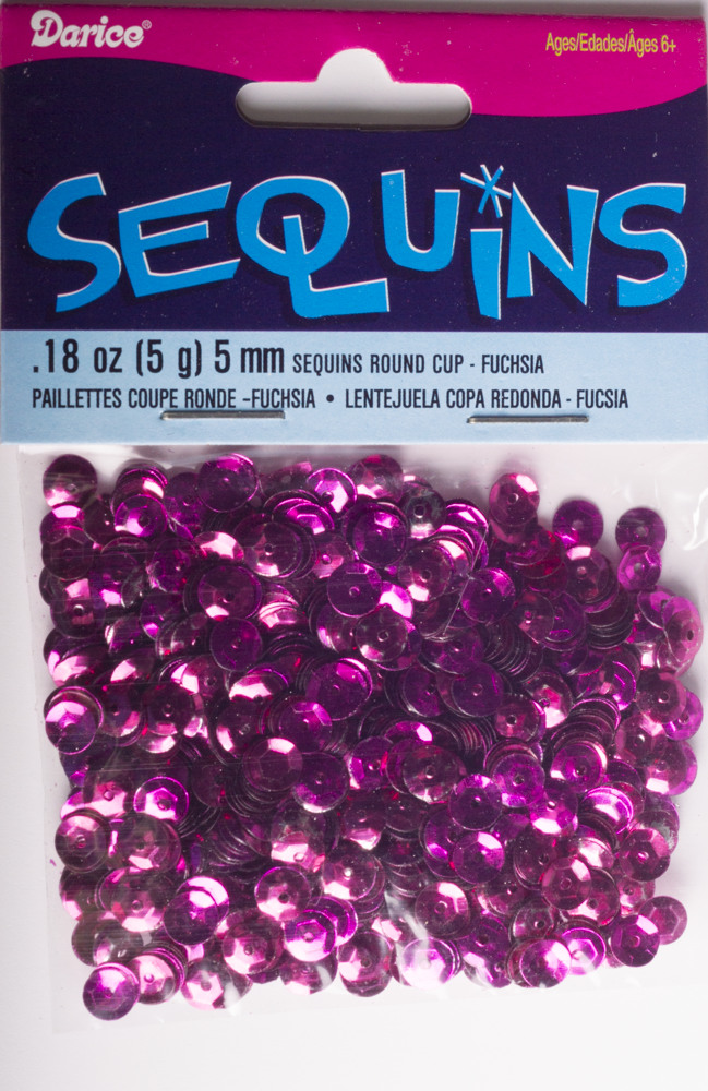 5mm Cup Sequins, 800 pack, Fuchsia