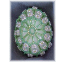 Many Flowers Beaded Egg