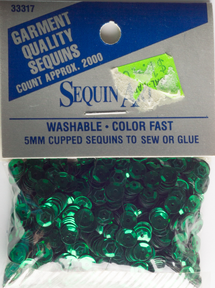 5mm Cup Sequins, 2000 pack, Green (Pre-Owned)