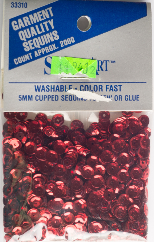 5mm Cup Sequins, 2000 pack, Red (Pre-Owned)