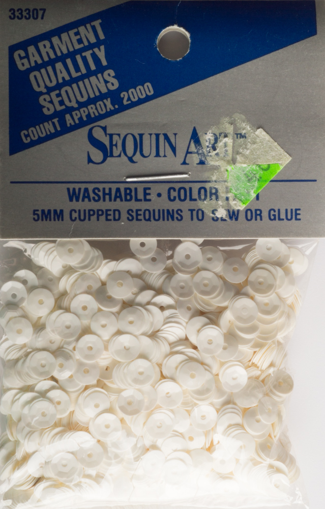 5mm Cup Sequins, 2000 pack, Ivory (Pre-Owned)