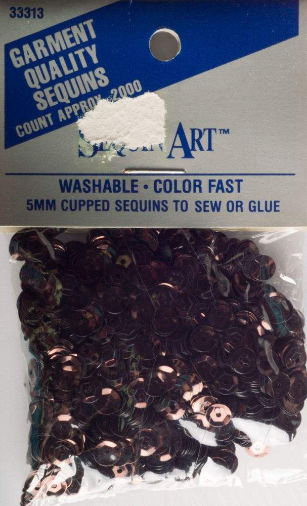 5mm Cup Sequins, 2000 pack, Brown (Pre-Owned)