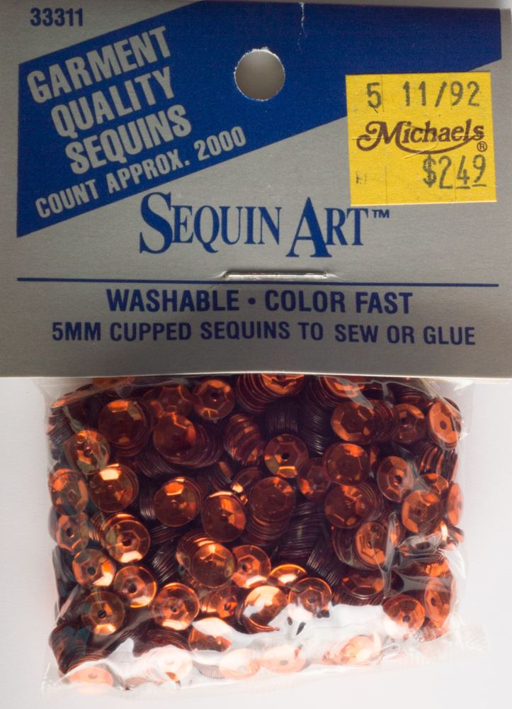 5mm Cup Sequins, 2000 pack, Orange (Pre-Owned)