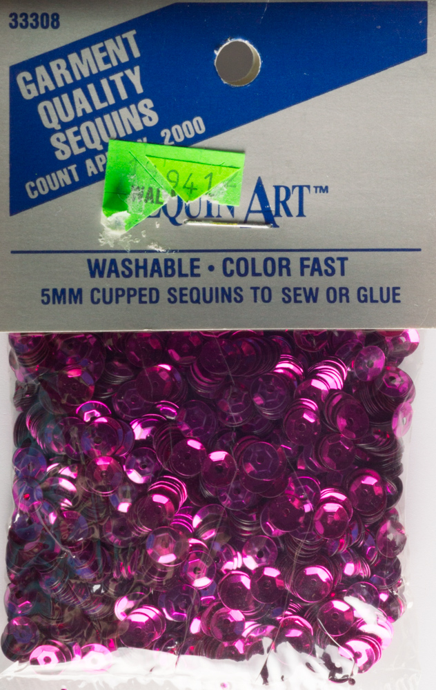 5mm Cup Sequins, 2000 pack, Fuchsia (Pre-Owned)