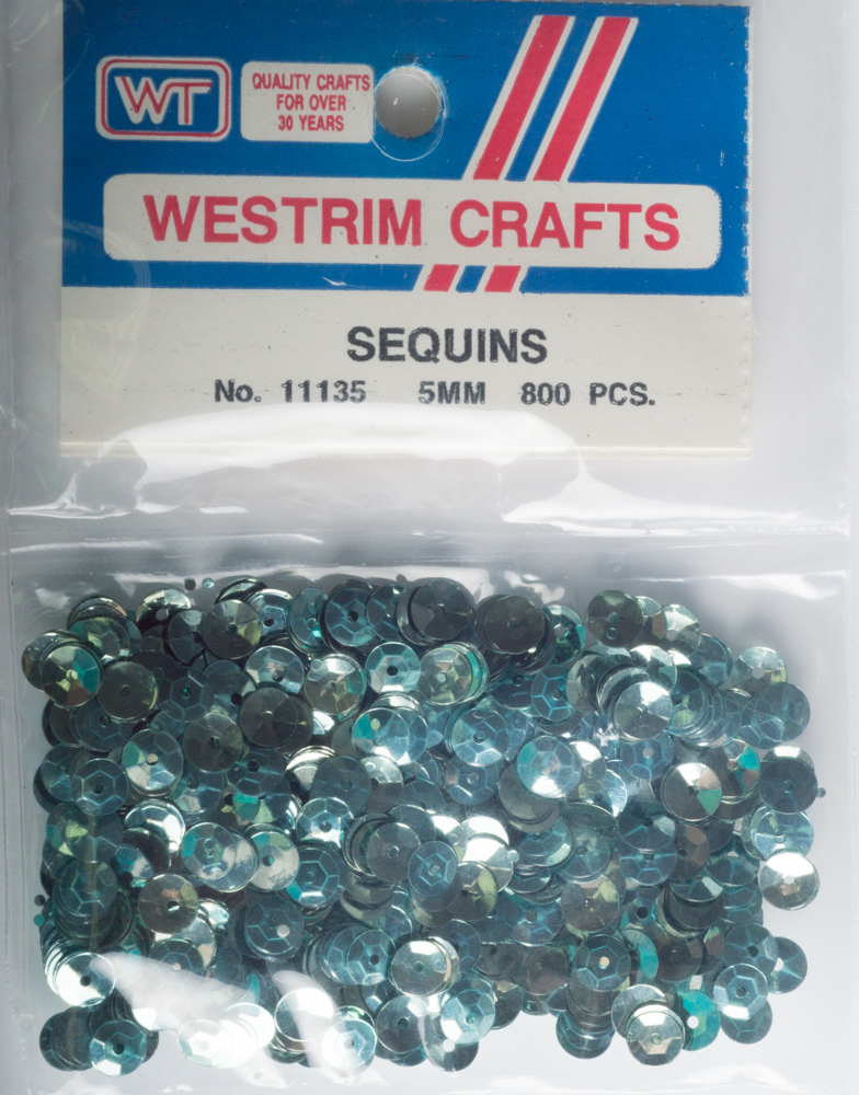 5mm Cup Sequins, 800 pack, Aqua (Pre-Owned)