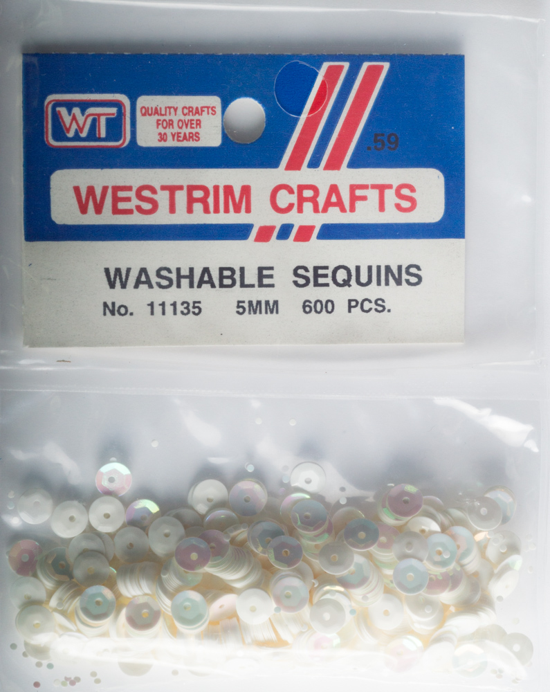 5mm Cup Sequins, 600 pack, White Iris (Pre-Owned)