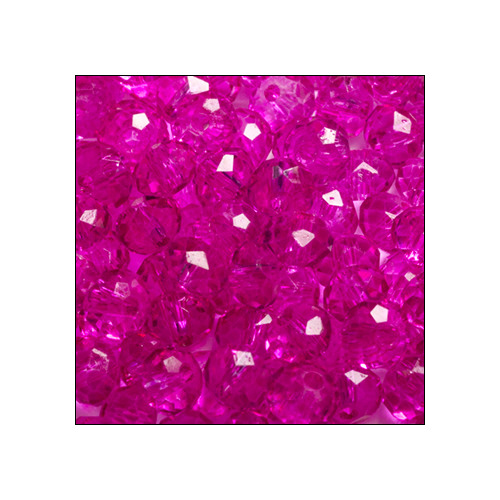 Crystal Rondelle, 3 x 4mm Fuchsia Transparent (100)