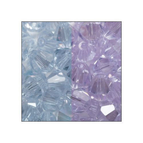 Crystal Bicone, 4mm Alexandrite (Blue/Purple) (100)