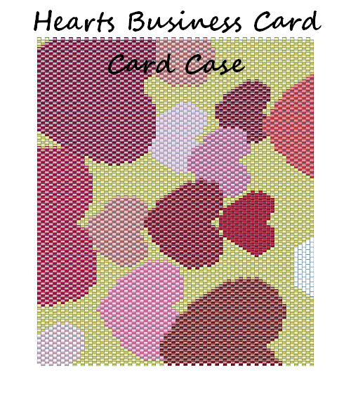 Hearts Business Card Case Word Map & Chart