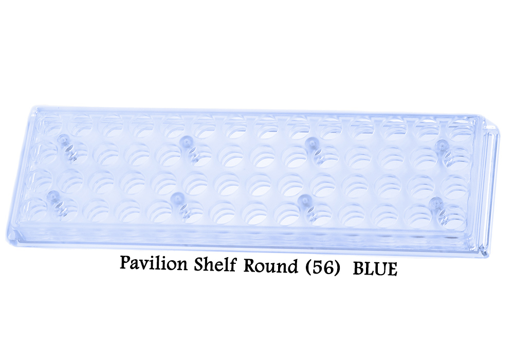 Bead Pavilion Shelf Round (56 Holes) BLUE tint